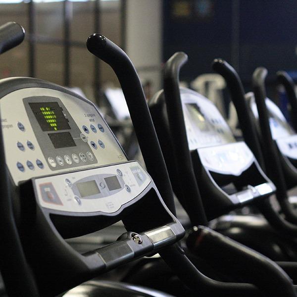Fitness Center Elliptical Machines