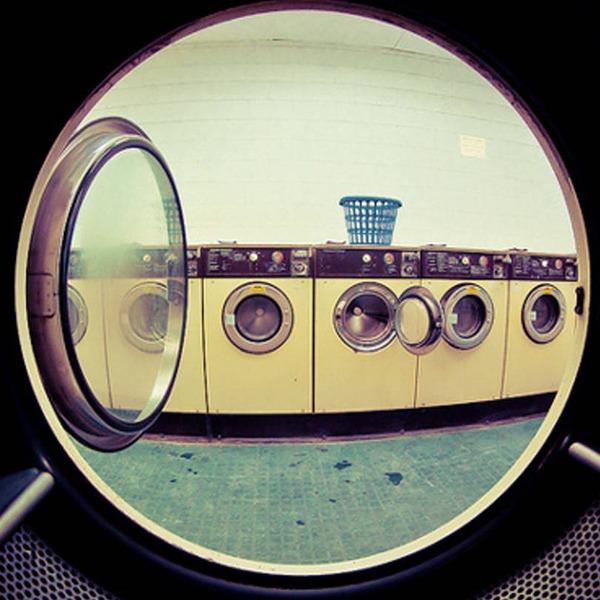 Row of Laundromats