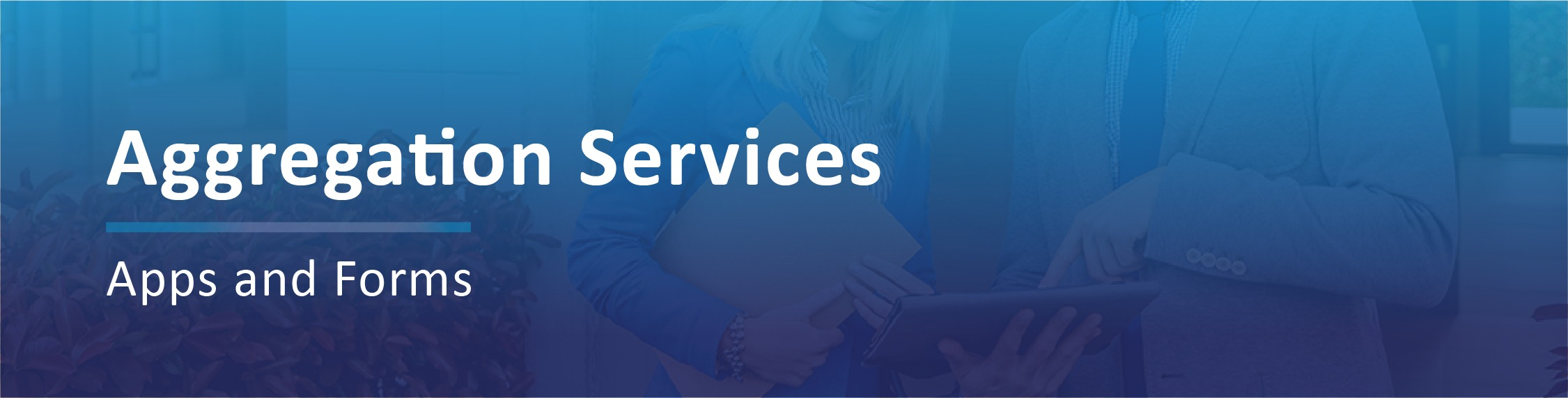 Aggregation Services Applications Banner