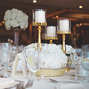 Weeding table with fancy tableware