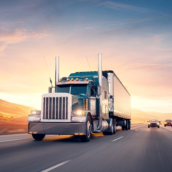 Big Semi truck on highway