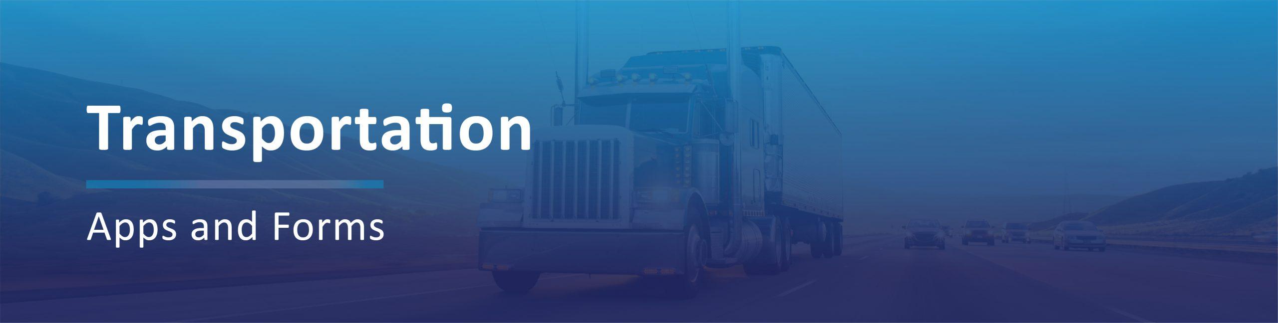 Transportation Applications Banner