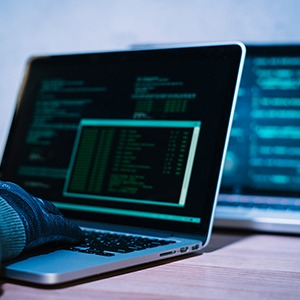 Hacker in computer