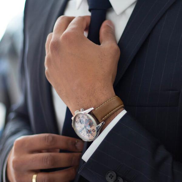 Man in fancy work suit