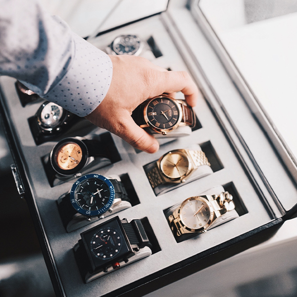 Collection of expensive watches
