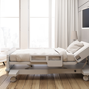 Bed in a sleep center