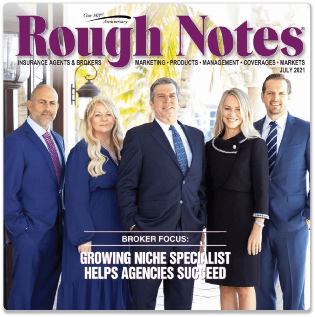 The One80 team on front cover of Rough Notes Magazine
